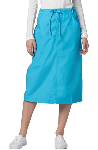Women's Mid-Calf Drawstring Scrub Skirt, , large