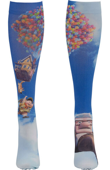 Women's Knee High 8-15 Mmhg Mr. Fredrickson Print Compression Sock, , large