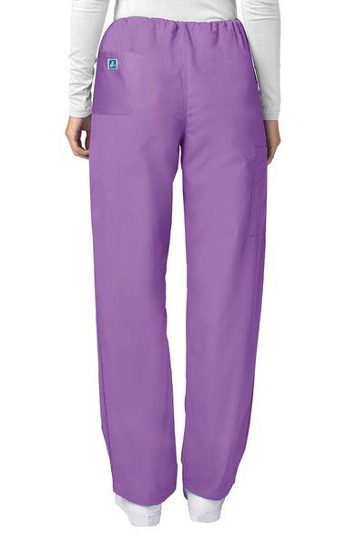 Unisex Drawstring Solid Scrub Pants, , large