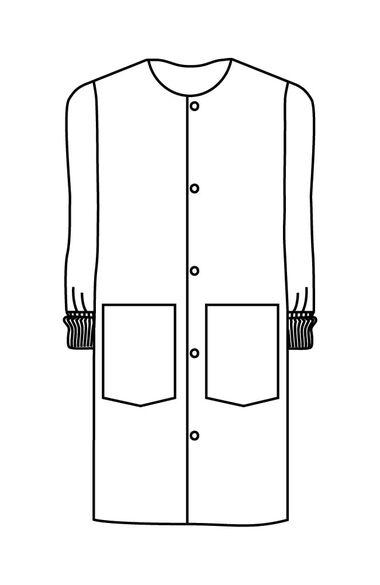 """Unisex Cover Coat 41¾"""" Lab Coat, , large"""