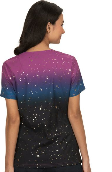 Women's Reform Holiday Ombre Scrub Top, , large