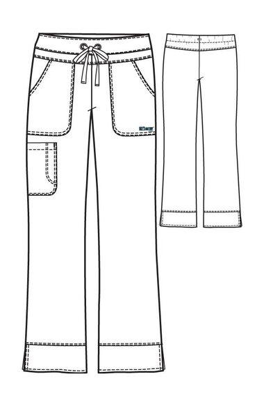 Signature by Grey's Anatomy Women's Drawstring Waist Scrub Pant, , large