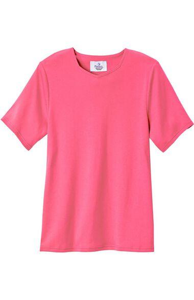 Silvert's Women's Open Back Diamond Neck Solid T-Shirt, , large