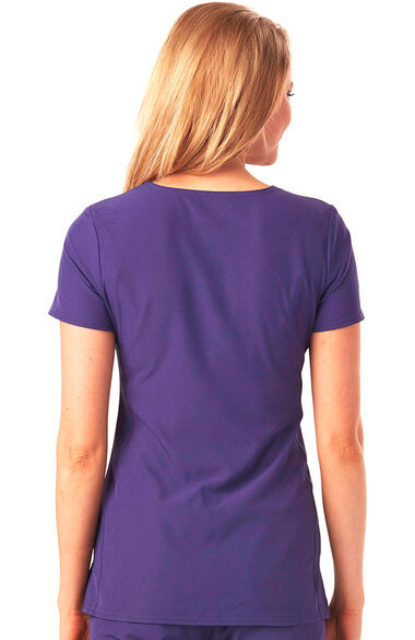 Women's Pitter-Pat V-Neck Solid Scrub Top, , large