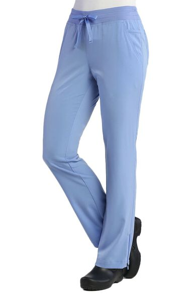 Women's Modern Zip Hem Yoga Scrub Pant, , large