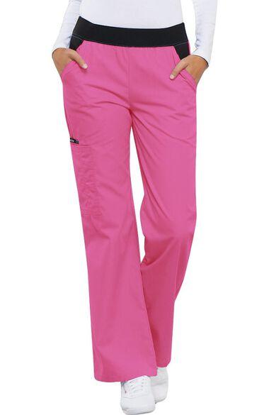Clearance Women's Knit Waistband Cargo Scrub Pant, , large