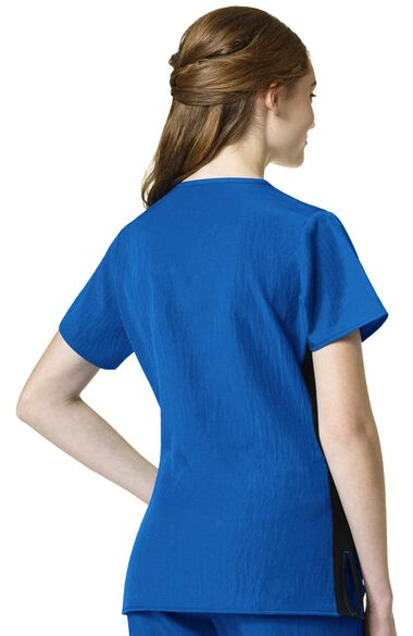 Clearance Women's Zip Front Solid Scrub Top, , large