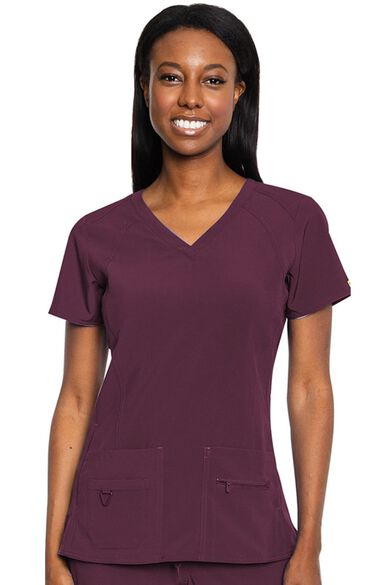 Women's Refined V-Neck Solid Scrub Top, , large