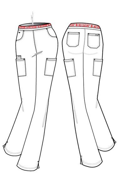 Women's Ally Logo Elastic Waistband Cargo Scrub Pant, , large