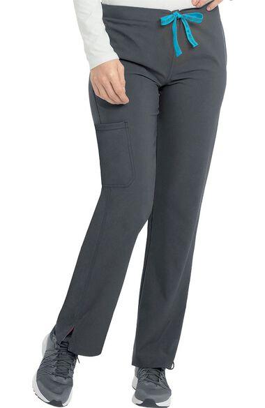 Women's Drawstring Cargo Pocket Scrub Pant, , large