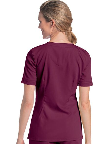 Women's Sweetheart Neck Solid Scrub Top, , large