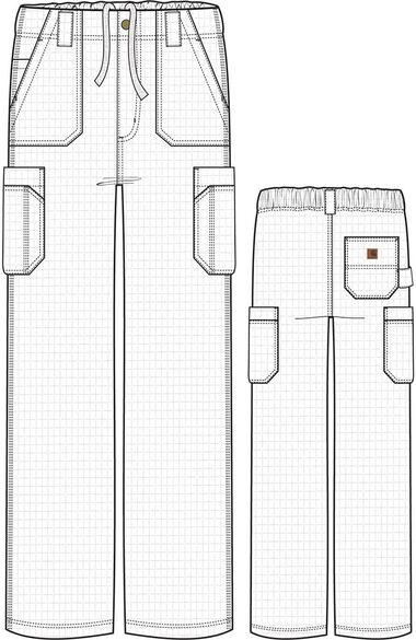 Clearance Men's Multi-Cargo Scrub Pant, , large