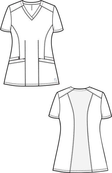 Women's Flex Back Solid Scrub Top, , large