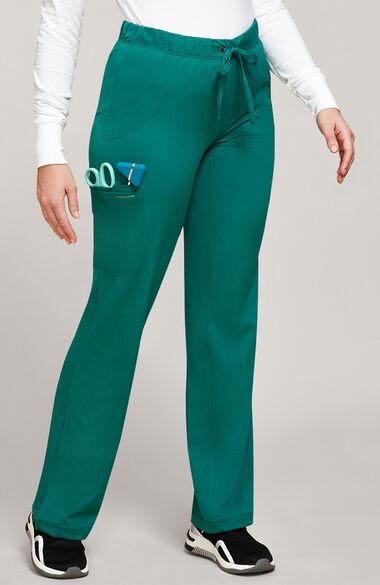 Women's Rebecca Drawstring Flare Scrub Pant, , large