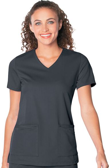Women's Chelsea Soft V-Neck Solid Scrub Top, , large