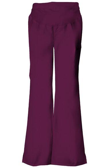 Clearance Women's Maternity Flare Leg Solid Scrub Pants, , large