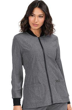 Women's Andrea Zip Front Solid Scrub Jacket