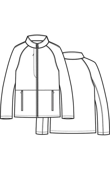 Men's Raglan Sleeve Fleece Solid Scrub Jacket, , large