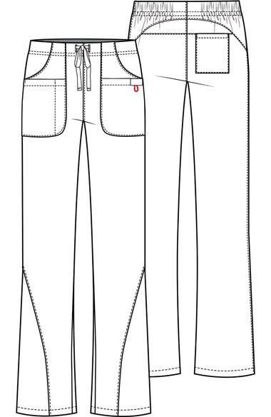 Women's Flare Leg Drawstring Scrub Pant, , large