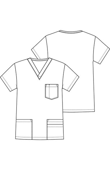 Clearance Men's 5 Pocket Scrub Top, , large