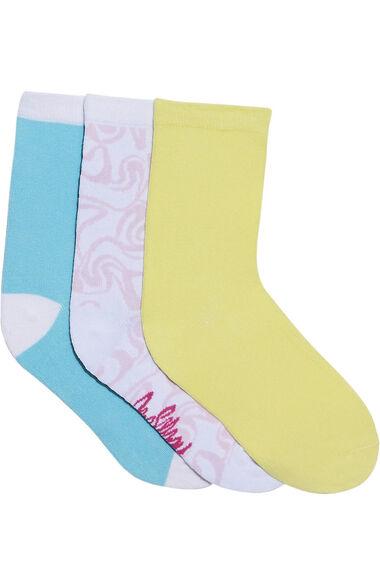 Women's Rainbow Pop Print Crew Socks, , large
