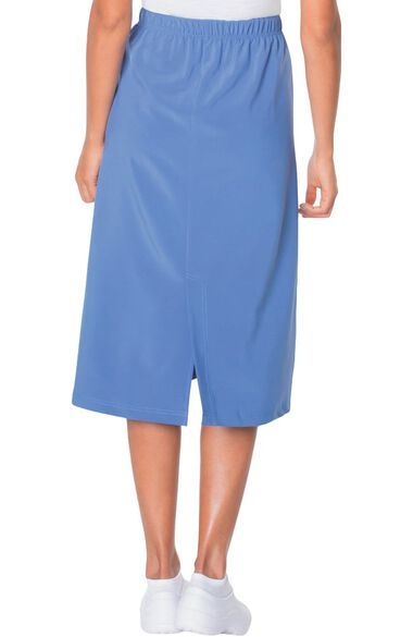 Women's Modern A-Line Elastic Waist Scrub Skirt, , large