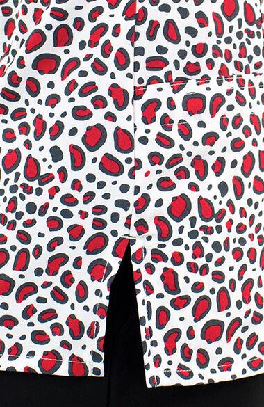 Women's Quiet Savage Print Scrub Top, , large