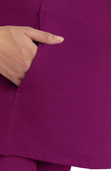 Women's Mila Maternity Solid Scrub Top, , large