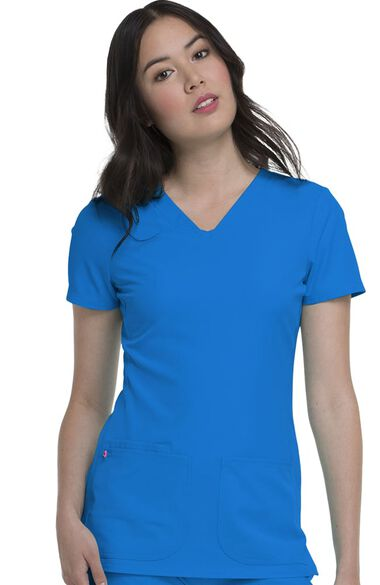 Clearance Women's Pitter-Pat V-Neck Solid Scrub Top, , large