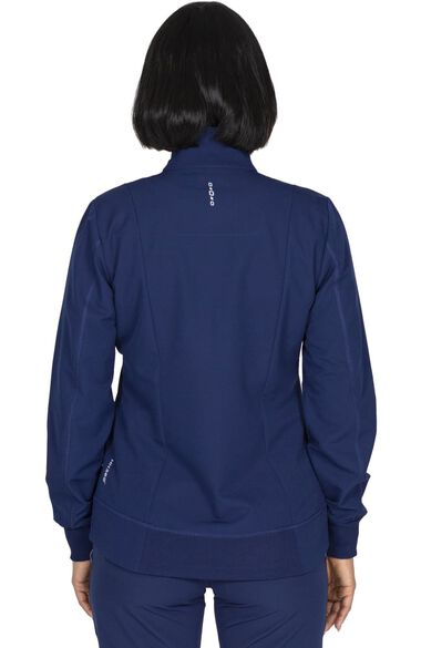 Women's Carly Solid Scrub Jacket, , large