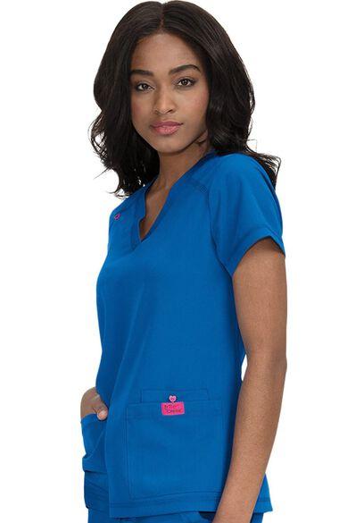 Women's Freesia Solid Scrub Top, , large