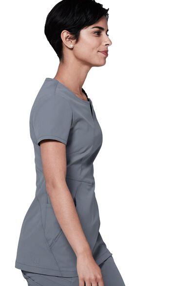 Women's Horizon V-Neck Solid Scrub Top, , large