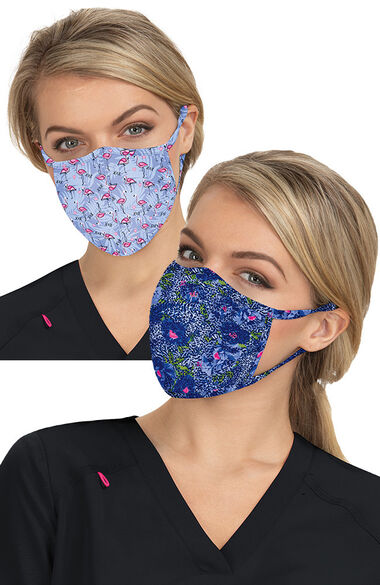 Women's 2 Piece Print Mask Set, , large