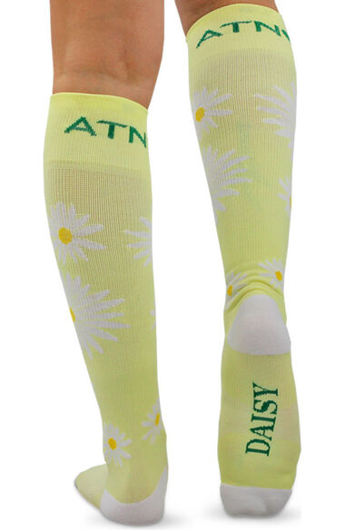 About The Nurse Women's Knee High 20-30 MmHg Daisy Print Compression Sock, , large