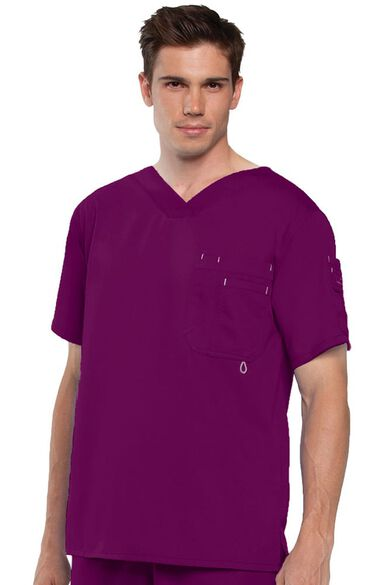 Grey's Anatomy Classic Men's V-Neck Solid Scrub Top, , large