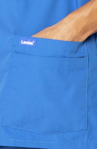 Men's 5-Pocket Solid Scrub Top, , large