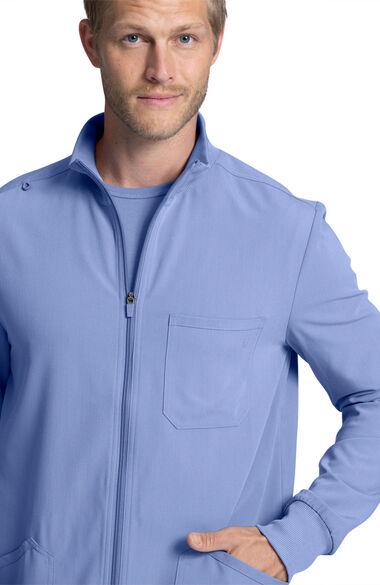 Men's Warm-Up Solid Scrub Jacket, , large