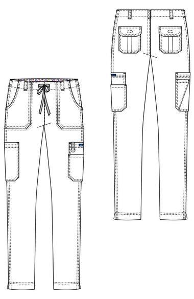 Women's Lindsey Slim Drawstring Elastic Waist Scrub Pant, , large