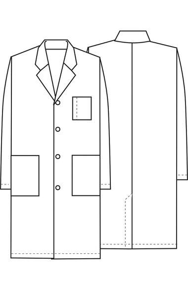 """Unisex Vented Back 40"""" Lab Coat, , large"""