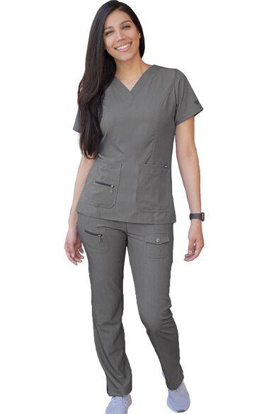 Women's Breakthrough Plus Heathered Solid Scrub Set, , large