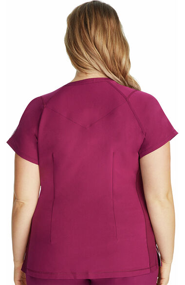 Women's Serena V-Neck Solid Scrub Top, , large