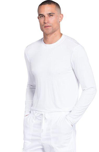 Men's Long Sleeve Solid Underscrub T-Shirt, , large