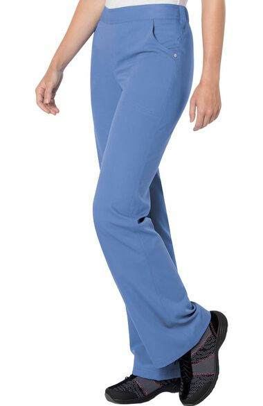 Clearance Women's Elastic Waistband Scrub Pant, , large