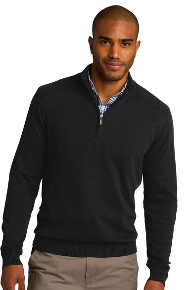 Unisex ½ Zip Knit Pullover, , large