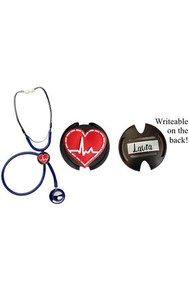 3D Soft Rubber Stethoscope ID Tag, , large
