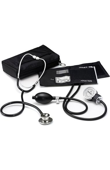 Basic Aneroid Sphygmomanometer with Dual Head Stethoscope Kit, , large