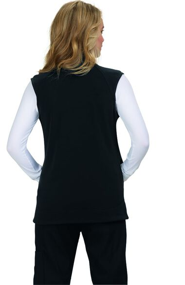 Women's Fearless Solid Scrub Vest, , large