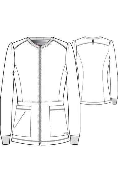 Spandex Stretch by Grey's Anatomy Women's Millie Solid Scrub Jacket, , large