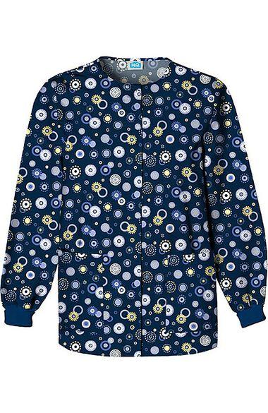 Women's Crew Neck Dot Print Jacket, , large