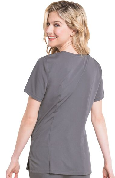 Clearance Women's Chelsea Soft V-Neck Solid Scrub Top, , large